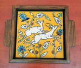 Leaping gazelles yellow