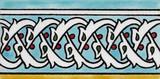 Light blue listello border tile