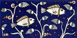 Fish listello border tile