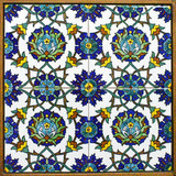 Floral pattern wall hanging