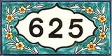 Light blue name plate
