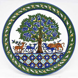 Tree of Life hand painted plate