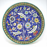 Pomegranates floral hand painted plate