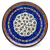 Jerusalem flowers cobalt blue hand painted plate