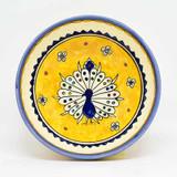 Peacock bowl yellow 6 inches diameter