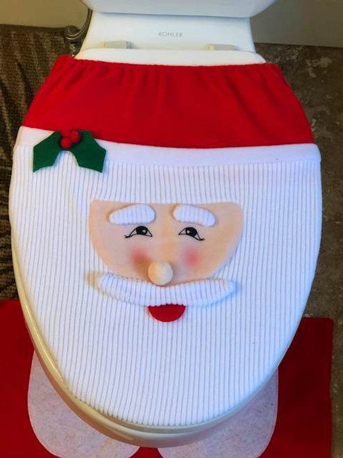 Santa Face Toilet cover