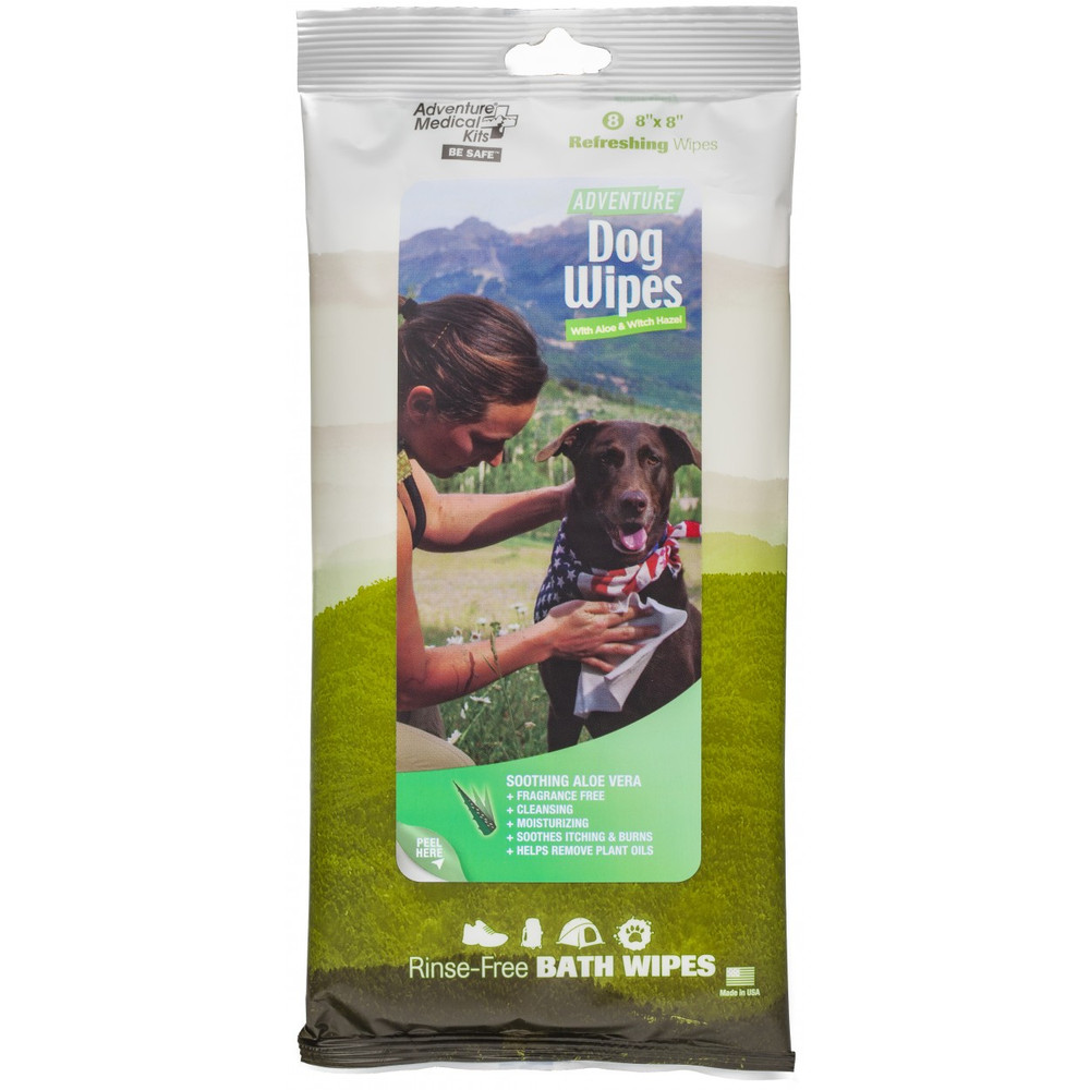 Adventure Dog Wipes, 8 per package, Orion Kennels