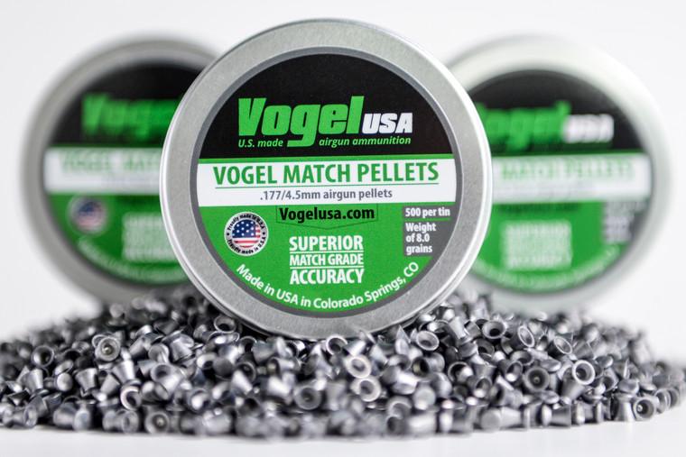 VOGEL USA LG Match Pellets .177 Cal, .53 Gram (Green Tin)