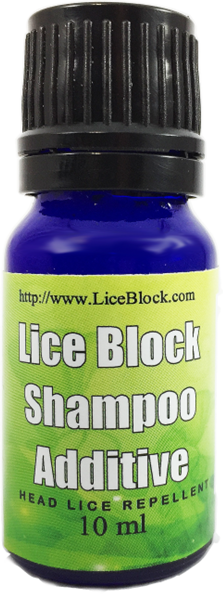 Head lice treatment repellent shampoo and conditioner additive. Smaller Image.