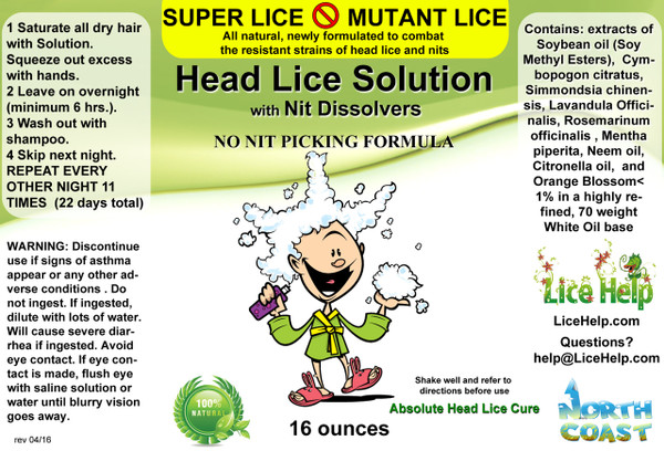Full Super Lice Product LAbel
