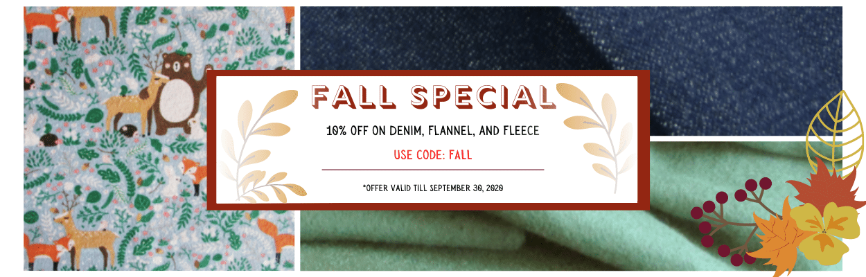 Fall Special - 10% Off on Denim, Fleece, and Flannel