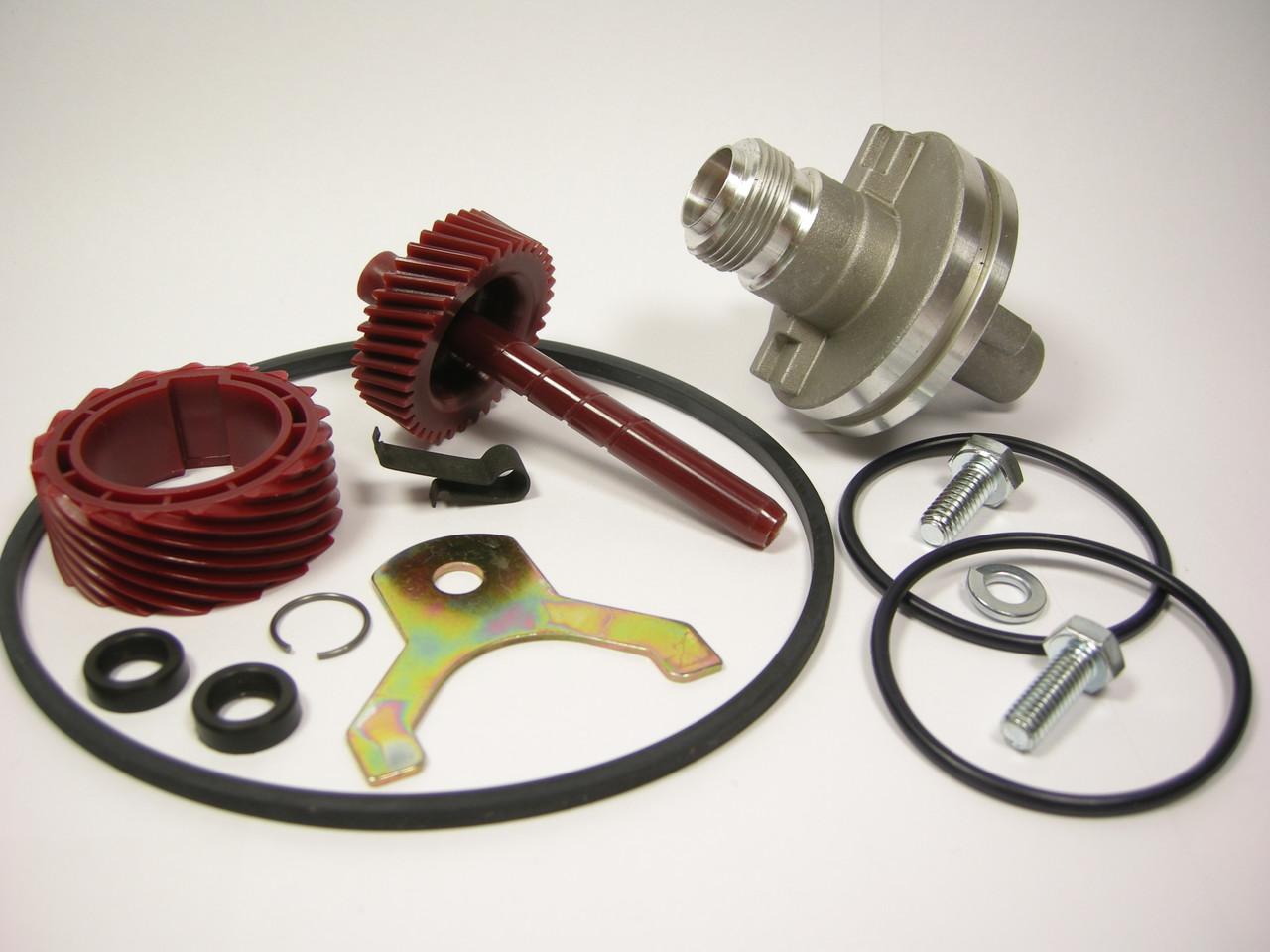 700R4 TH350 17 & 37 Tooth Speedo Kit Gears Housing Speedometer Parts