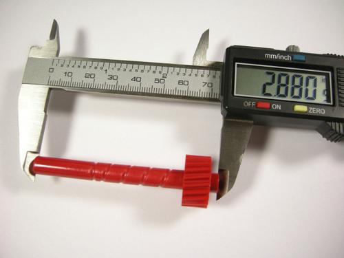 1955-1960 Cast Iron Powerglide 21 Tooth Red Speedo Gear Speedometer
