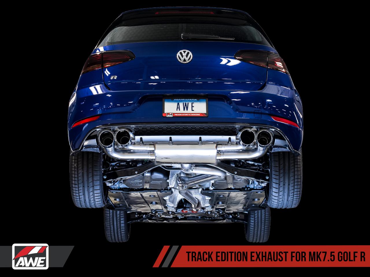 AWE Tuning Mk7 5 Golf 'R' Track Edition Exhaust