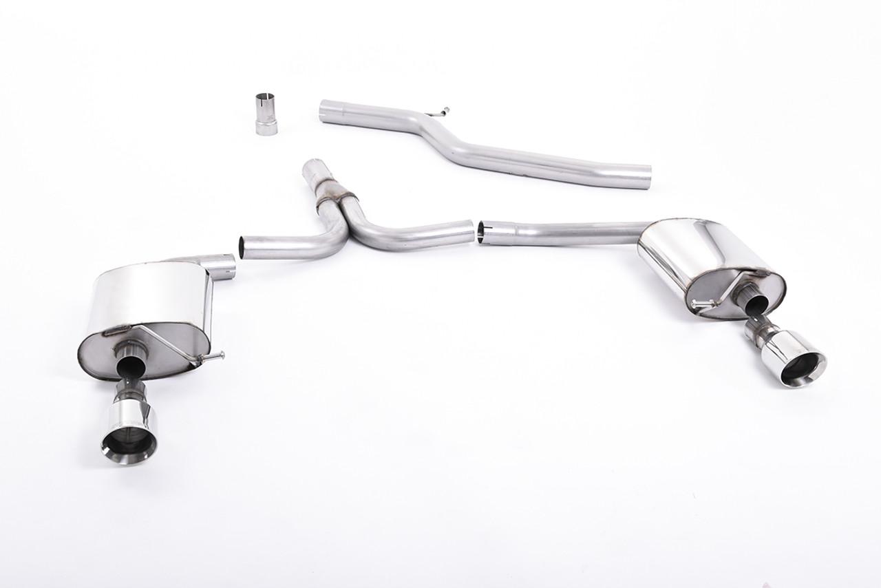 Milltek Cat Back Exhaust For Audi A4 B8 20 Tdi B8 140ps177ps