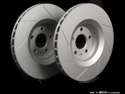 ECS Tuning - Slotted Front Brake Discs for MQB Cars