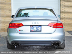 AWE TUNING AUDI B8 S4 TOURING EDITION EXHAUST - Diamond Black Tailpipes