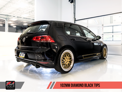 AWE Tuning Mk7 GTI Track Edition Exhaust - Diamond Black Tailpipes