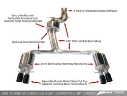 AWE TUNING AUDI S5 3.0T CABRIO EXHAUST AND DOWNPIPE SYSTEMS
