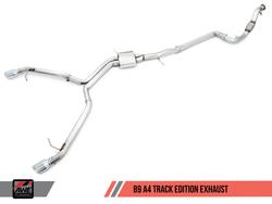 AWE Tuning 3020-33014 B6 A4 3.0L Track Edition Exhaust - Diamond Black Tips