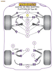 Powerflex Front Lower Shock Mount - A4 Avant Quattro (1995-2001) - PFF3-201