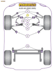 Powerflex Front Anti Roll Bar Link Bush - A6 (2002 - 2005) - PFF3-213