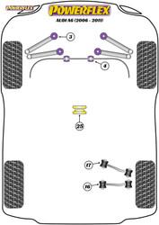 Powerflex Rear Track Control Arm Inner Bush  - A6 (2006-2011) - PFR3-716