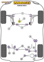 Powerflex Rear Upper Link Outer Bush - Q3 (2012 - ON) - PFR85-513