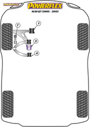 Powerflex Front Anti Roll Bar Link Bush  - Q7 (2005 - 2015) - PFF3-813