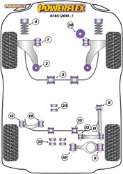 Powerflex Rear Diff Rear Mounting Bush  - S1 8X (2015 on) - PFR85-525