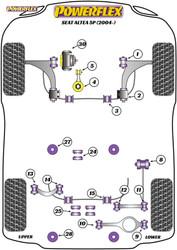 Powerflex Black Rear Diff Rear Mounting Bush - Altea 5P (2004-) - PFR85-525BLK