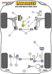Powerflex Lower Engine Mount Insert (Large) Track Use - Leon Mk2 1P (2005-2012) - PFF85-704P