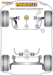 Powerflex Lower Engine Mount (Large) Insert Track Use - Leon MK3 5F upto 150PS (2013-) Rear Beam - PFF85-832P