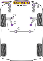 Powerflex Front Arm Rear Bush - Mii (2011-) - PFF85-1202
