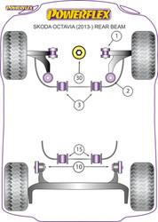 Powerflex Lower Engine Mount (Large) Insert Diesel - OCTAVIA 5E UP TO 150PS REAR BEAM - PFF85-832R