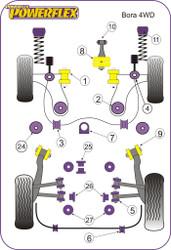Powerflex Black Rear Anti Roll Bar Mounting 14mm - Bora 4 Motion (1999-2005) - PFR3-511-14BLK