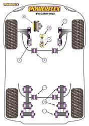 Powerflex Black Rear Leaf Spring Chassis Shackle Bush  - Caddy MK3 Typ 2K (2004 - 06/2010) - PFR85-1510BLK