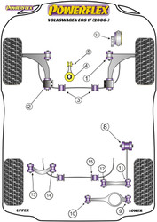 Powerflex Rear Tie Bar to Chassis Front Bush - Eos 1F (2006-) - PFR85-508