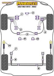 Powerflex Steering Rack Mount - Golf MK1 (1973 - 1985) - PFF85-229