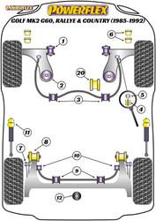 Powerflex Rear Lower Engine Mount Insert, Diesel - Golf MK2 G60, Rallye & Country (1985 - 1992) - PFF85-245R