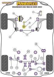 Powerflex Black Rear Upper Link Inner Bush - Golf MK6 5K (2009-2012) - PFR85-514BLK