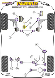 Powerflex Black Rear Tie Bar to Chassis Front Bush - Jetta Mk5 1K (2005-2010) - PFR85-508BLK