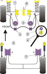 Powerflex Rear Shock Top Mounting Bush - Polo MK3 6N (1995 - 2002) - PFR85-240