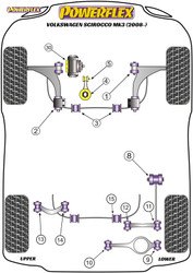 Powerflex Rear Lower Link Inner Bush - Scirocco MK3 (2008 - 2017)  - PFR85-512