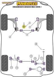 Powerflex Rear Upper Link Inner Bush - Sharan MK2 (2010 - ON) - PFR85-514
