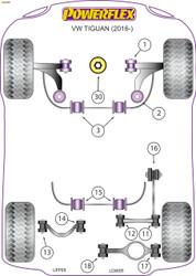 Powerflex Black Lower Engine Mount Insert (Large) - Tiguan MK2 (2017 - ON ) - PFF85-830BLK