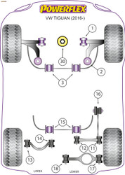 Powerflex Lower Engine Mount Insert (Large) Diesel - Tiguan MK2 (2017 - ON ) - PFF85-830R