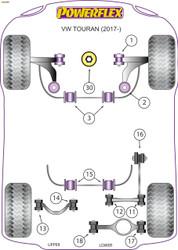 Powerflex Lower Engine Mount (Large) Insert Track Use - Touran (2017 - ) - PFF85-832P