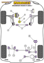 Powerflex Lower Engine Mount Insert (Large) Track Use - Touran 1T (2003-) - PFF85-704P