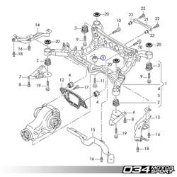 034Motorsport Billet Aluminum Rear Differential Mount Upgrade